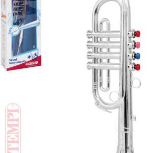 BONTEMPI Trumpeta stříbrná dětská 4 klapky plast *HUDEBNÍ NÁSTROJE*