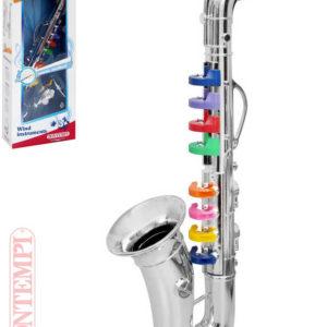 BONTEMPI Saxofon dětský stříbrný 8 klapek plast *HUDEBNÍ NÁSTROJE*