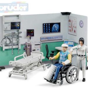 BRUDER 62711 Zdravotní stanice set se 2 figurkami a doplňky 1:16