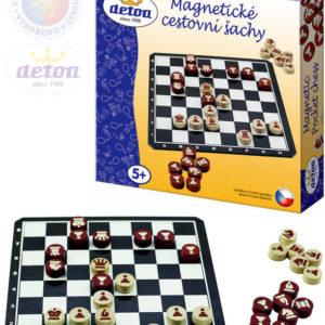 DETOA DŘEVO Hra Šachy cestovní magnetické *SPOLEČENSKÉ HRY*