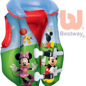 BESTWAY Nafukovací plavací vesta Minnie a Mickey Mouse do vody