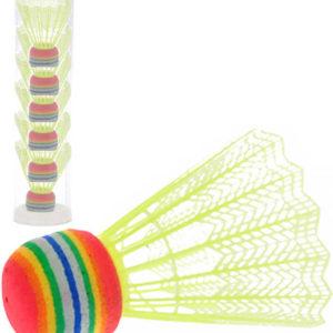 Košíčky na badminton žluté 2-Play set míčky 6ks v tubě