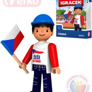 EFKO IGRÁČEK Fanda hokejová figurka 7,5cm v krabičce STAVEBNICE