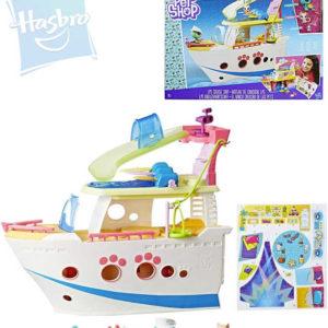 HASBRO LPS Littlest Pet Shop Loď výletní herní set 3 zvířátka s doplňky