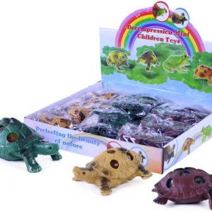 Želva měkká mačkací bublinová 6cm antistresový míček různé barvy