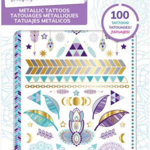 MAKE IT REAL Tetování metalické set 2 listy 100 tetovaček různé druhy