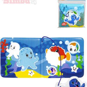 SIMBA Baby knížka magická do vany s přívěskem mořská zvířátka do vody