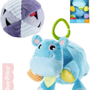 FISHER PRICE PLYŠ Baby hrošík a míček 2v1 s klipem pro miminko