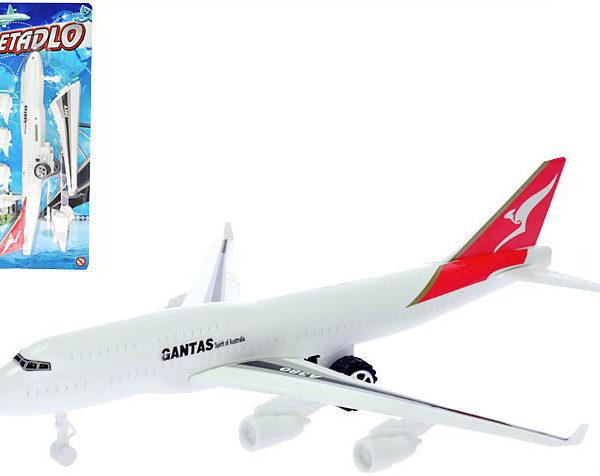 Letadlo dopravní bílé 30cm na zpětný chod k sestavení
