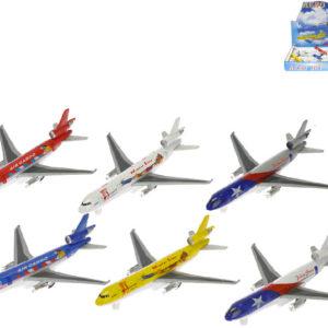 Letadlo dopravní 20cm kovové různé druhy
