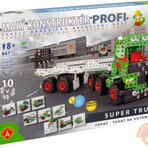 ALEXANDER Malý konstruktér Profi Super Truck konstrukční STAVEBNICE 867 dílků kov