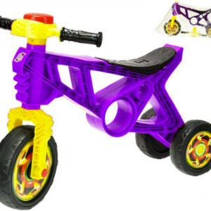Motorka dětské odrážedlo fialové 60x43x19cm s klaksonem plast