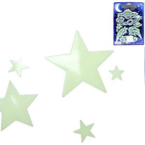 Sada hvězdy nebo planety svítící dekorace
