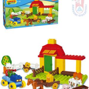 ANDRONI Unico plus baby stavebnice Farma 42 dílků
