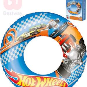 BESTWAY Kruh nafukovací 56cm Hot Wheels plavací kolo do vody 93401