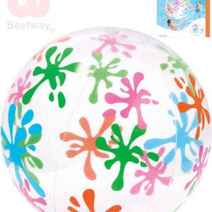 BESTWAY Míč nafukovací 122cm cik-cak transparentní balon do vody 31017