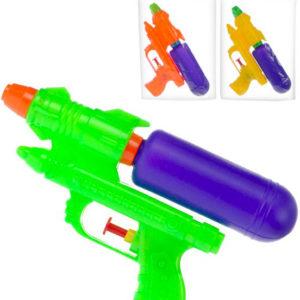 Pistole vodní stříkací 19cm se zásobníkem na vodu různé barvy
