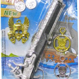 Bambitka pirátská zbraň 19cm set s klapkou na oko a doplňky plast
