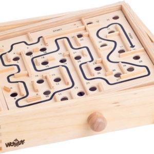 WOODY DŘEVO Labyrint kuličkové bludiště se 2 naklápěcími plošinami