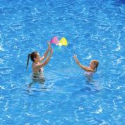 MAC TOYS Míč nafukovací 41cm transparentní balon na vodu