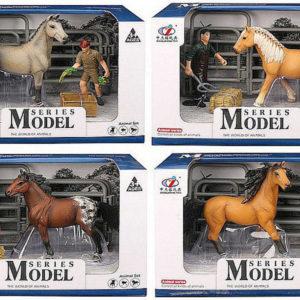 Jezdecký herní set koník 13cm s figurkou a doplňkem různé druhy plast