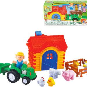 Baby set farmářský domek s traktorem a zvířátky na baterie Světlo Zvuk
