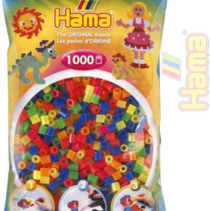 HAMA Korálky dětské zažehlovací neonové set 1000ks v sáčku midi plast