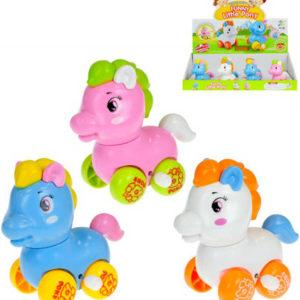 Baby pony barevný na kolečkách na klíček 9cm různé barvy pro miminko