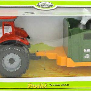 Traktor farmářský set s vlečkou a zvířátkem na zpětné natažení různé druhy