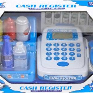 Pokladna dětská registrační kasa set s doplňky na baterie LCD Světlo Zvuk