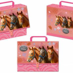 Kufřík holčičí lepenkový s koníky Nice and Pretty karton