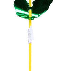 Větrník plastový na tyčce klasický duhový Květinka s třpytkami