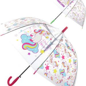 Deštník dětský holčičí průhledný Jednorožci vystřelovací různé druhy