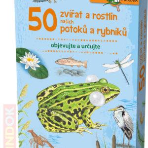 MINDOK HRA kvízová Expedice Příroda: 50 zvířat a rostlin potoků naučná