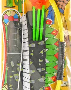 Indiánský set luk 50cm se 3 šípy a nožem plast na kartě