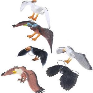 Pták divoký na gumce závěsná dekorace různé druhy guma