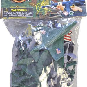 Vojáci figurka akční se zbraní herní set s letadlem a vozidly plast