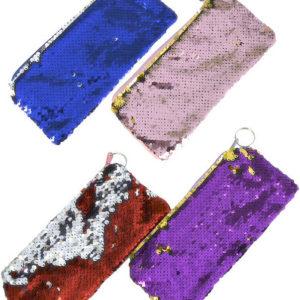 Peněženka dětská 21cm holčičí s flitry různé barvy