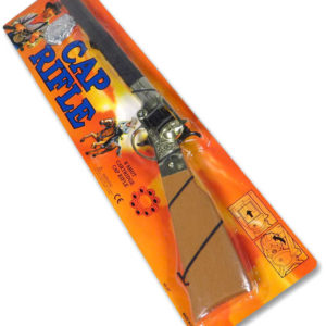 Puška westernová bubnový zásobník na 8 kapslí set s odznakem šerifa plast