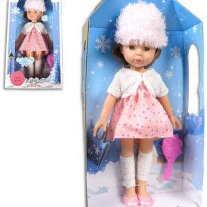 Panenka Isabella zimní obleček set s hřebenem různé druhy