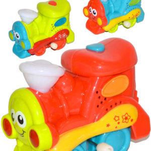 Baby mašinka 10cm na baterie na natažení Světlo Zvuk různé barvy pro miminko