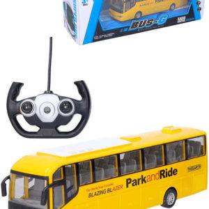 RC Autobus zájezdový 28cm na baterie na vysílačku 27MHz Světlo