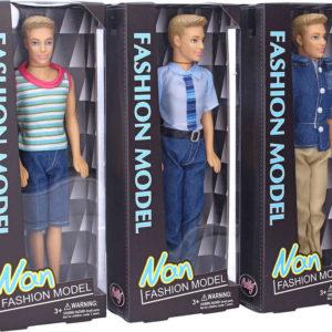 Panák 30cm modní obleček různé druhy panenka v krabici