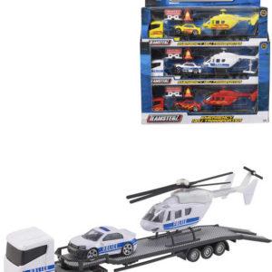 Teamsterz tahač set s autem a helikoptérou a doplňky různé druhy plast