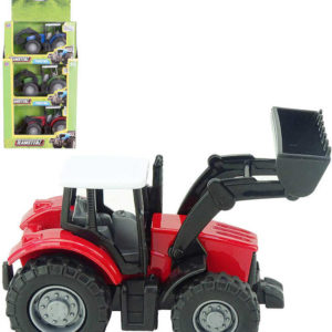 Teamsterz traktor kovový nakladač různé barvy v krabičce