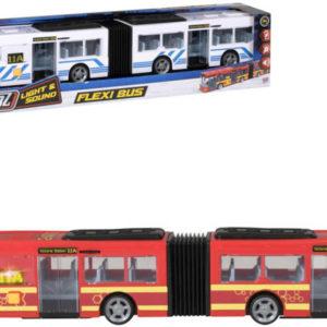 Teamsterz autobus kloubový 46cm na baterie Světlo Zvuk různé barvy