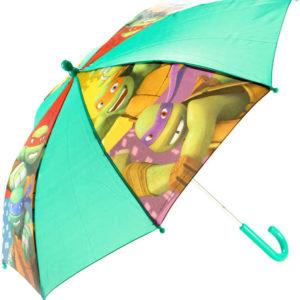 Deštník dětský Želvy Ninja manuální otevírání zelený