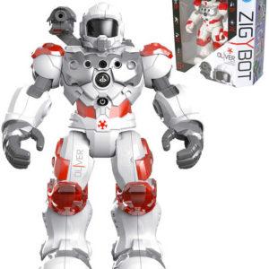 Zigybot Hasič Oliver 32cm interaktivní robot funkční vodní dělo na baterie Světlo Zvuk