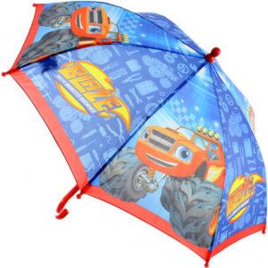 Deštník dětský Plamínek a čtyřkoláci manuální otevírání modrý