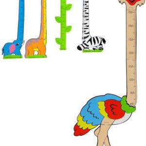 Výškoměr zvířátko 150cm dětský metr na měření výšky pěnové puzzle